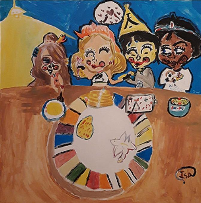 Comiendo entre culturas cuadro arte impacto social